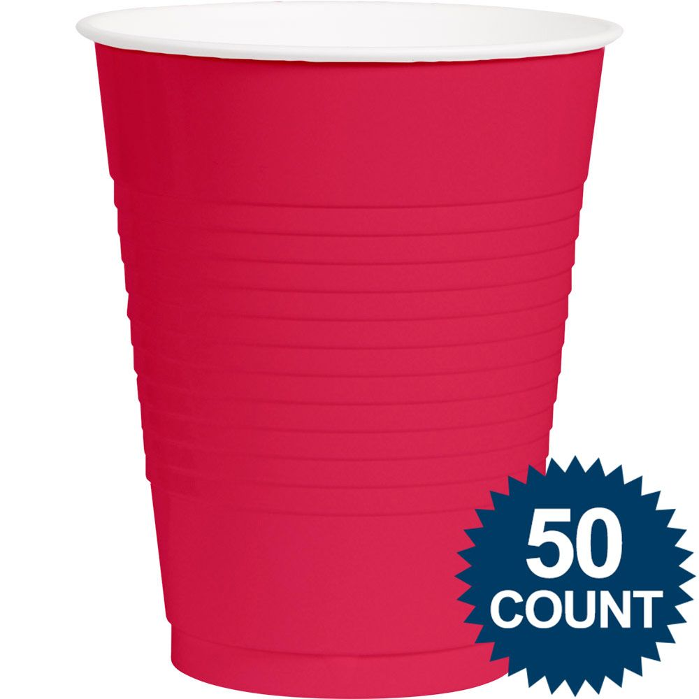 Hot Pink Plastic 16oz. Cup (50 Pack) - Party Supplies BB436801103