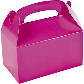 Hot Pink Treat Favor Boxes (6 Pack)