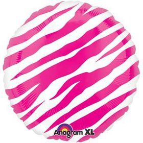 Hot Pink Zebra Print Balloon (each)