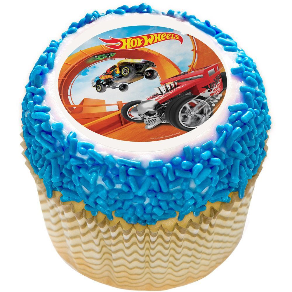 Hot Wheels 75 Round Edible Cake Topper Cooking Kits Activities