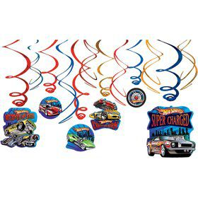 Hot Wheels Hanging Decorations (Each)