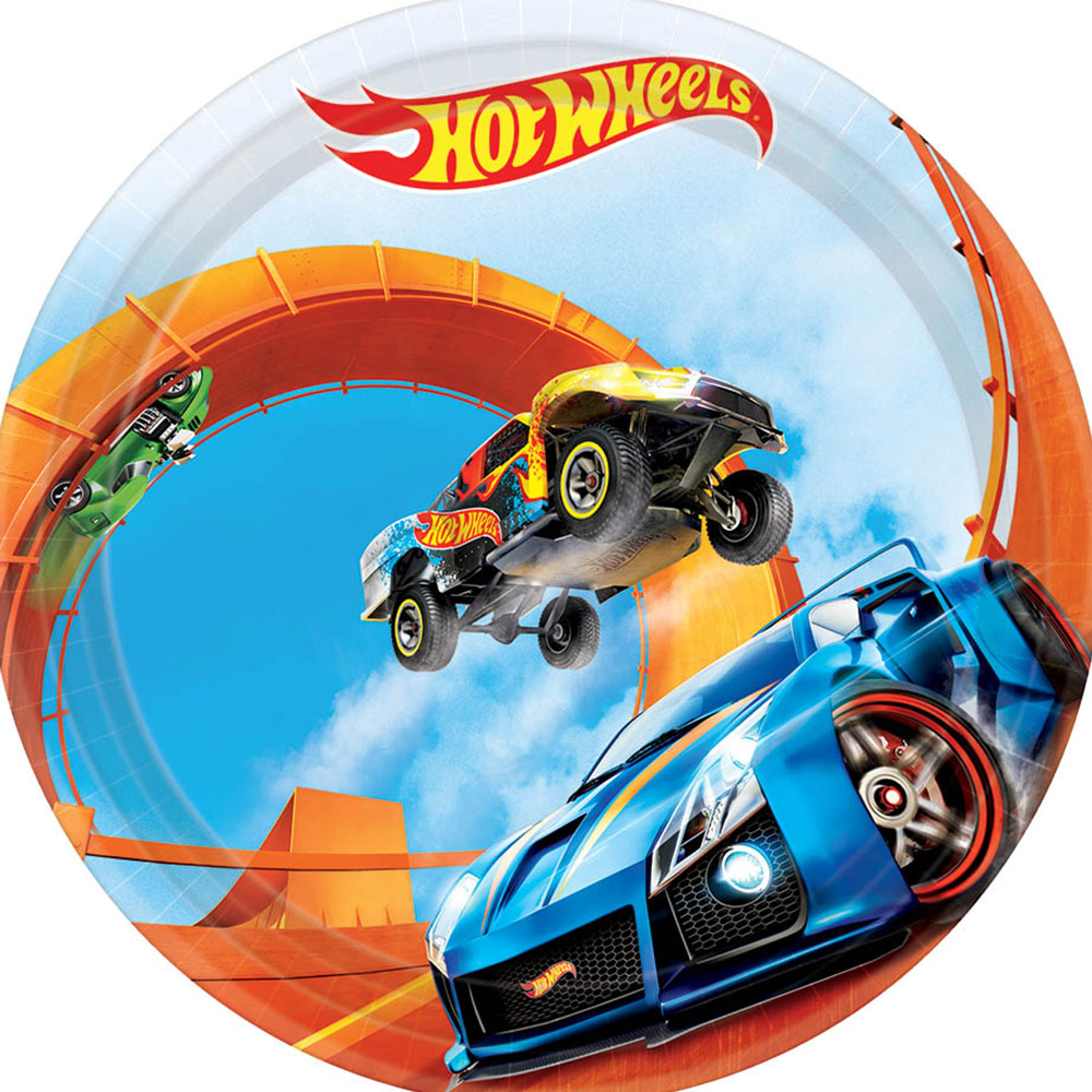 """Hot Wheels Wild Racer 7"""" Cake Plate (8 Count) BB541551"""
