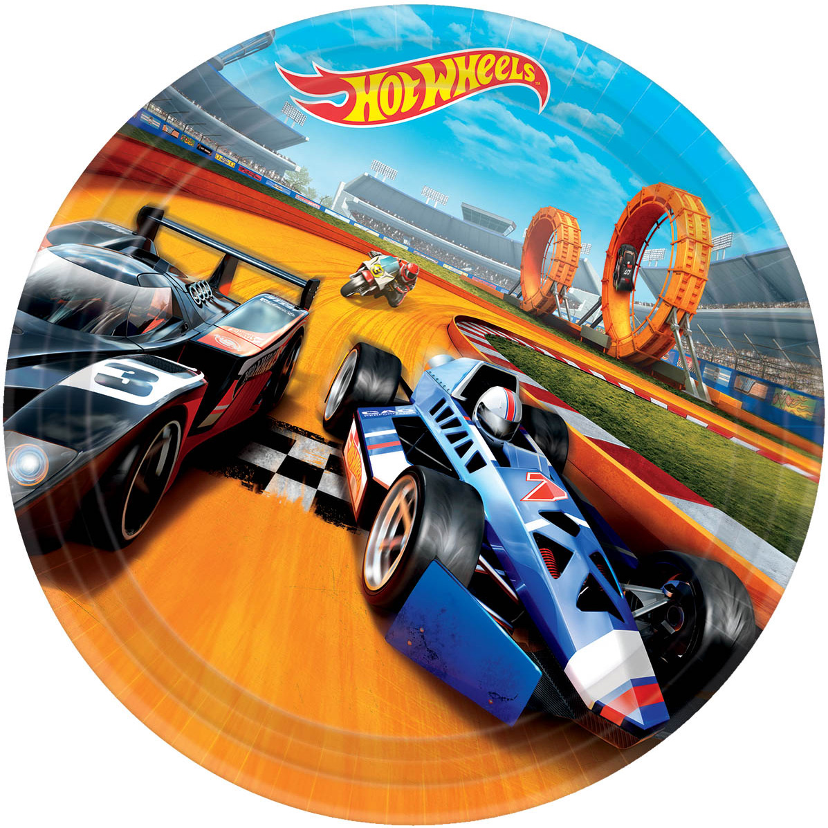 "Hot Wheels Wild Racer 9"" Luncheon Plate (8 Count) BB551551"