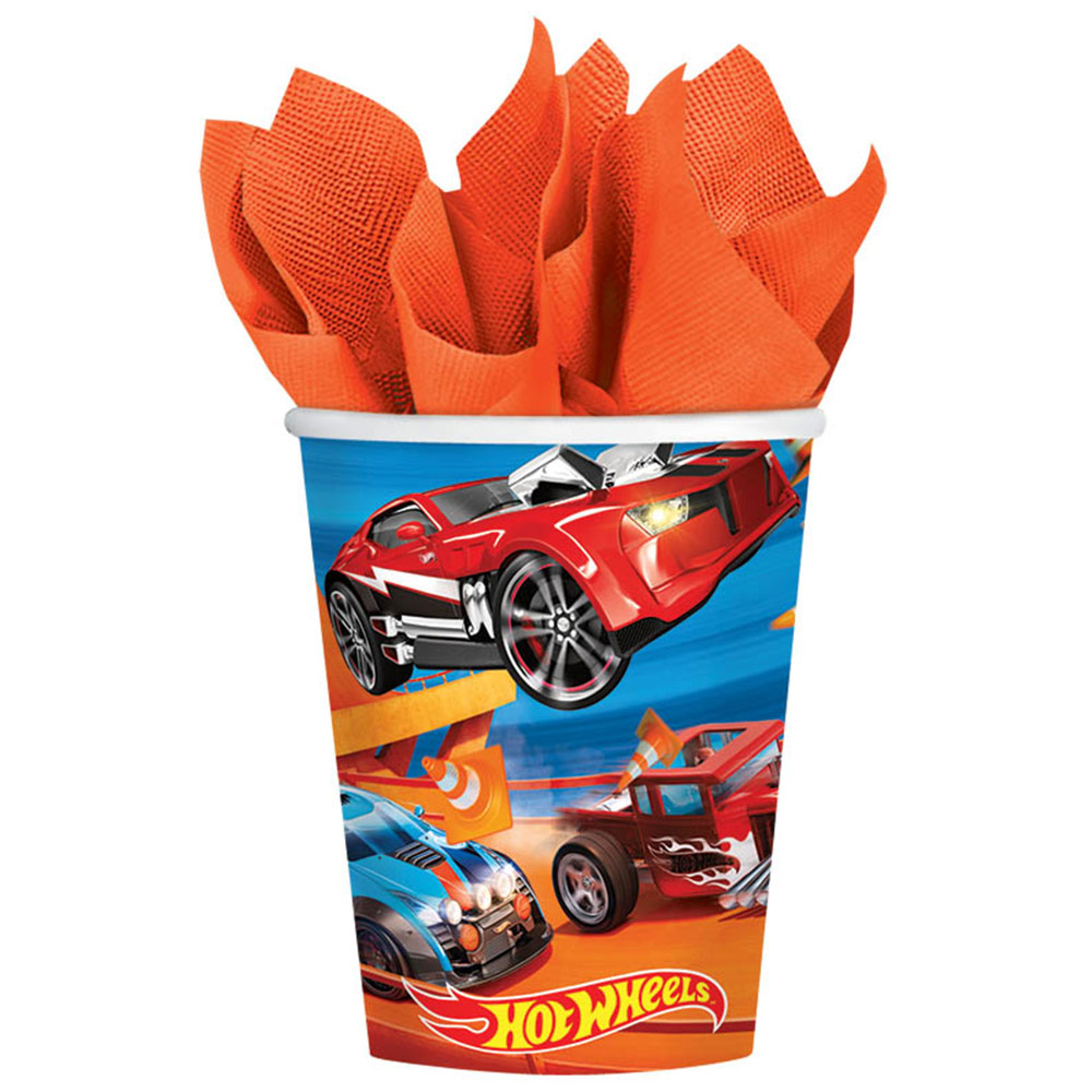 Hot Wheels Wild Racer 9oz Cups (8 Count) BB581551