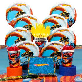 Hot Wheels Wild Racer Birthday Party Deluxe Tableware Kit (Serves 8)
