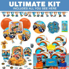 Hot Wheels Wild Racer Birthday Party Ultimate Tableware Kit (Serves 8)