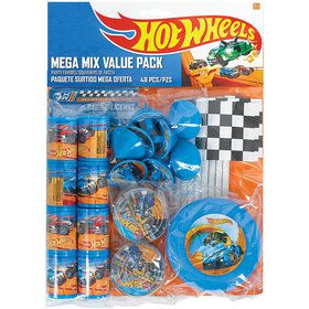 Hot Wheels Wild Racer Mega Mix favor Pack (For 8 Guests)