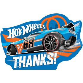Hot Wheels Wild Racer Postcard Thank Cards (8 Count)