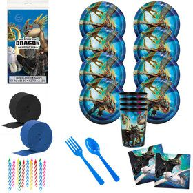 How to Train Your Dragon 3 Deluxe Tableware Kit with Favor Cups (Serves 8)