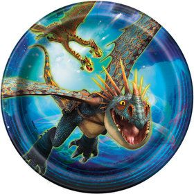 "How to Train Your Dragon 7"" Plate (8)"