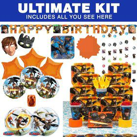 How to Train Your Dragon Birthday Party Ultimate Tableware Kit Serves 8