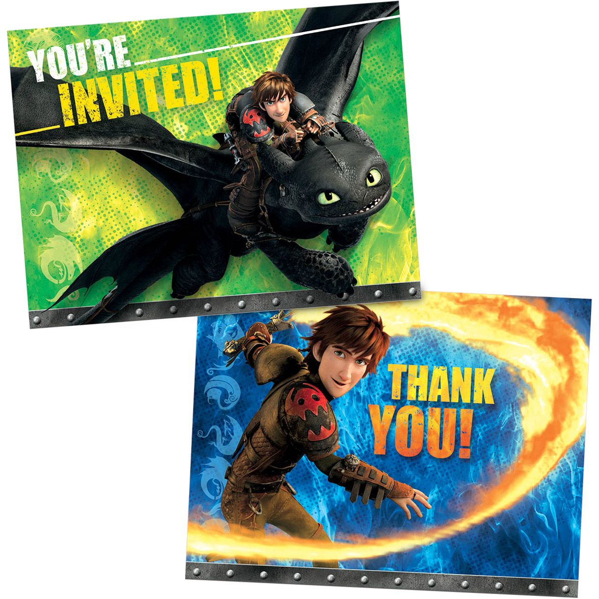 How to Train Your Dragon Invitation/Thank You Set (16 Pack) - Party Supplies BB5231972