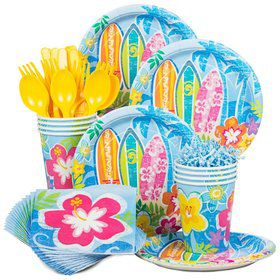Hula Beach Birthday Party Standard Tableware Kit Serves 8