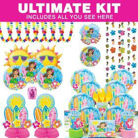 Hula Beach Birthday Party Ultimate Tableware Kit Serves 8