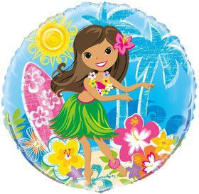"Hula Beach Party 18"" Balloon (Each)"
