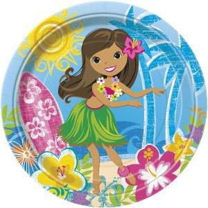 "Hula Beach Party 9"" Luncheon Plates (8 Pack) BB48255"