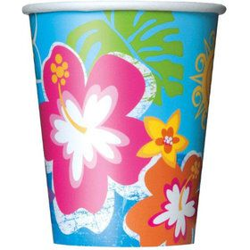 Hula Beach Party 9oz Cups (8 Pack)
