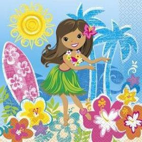 Hula Beach Party Luncheon Napkins (16 Pack)