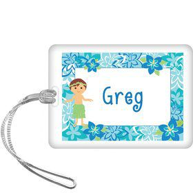 Hula Boy Personalized Bag Tag (each)