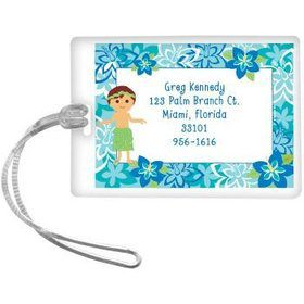 Hula Boy Personalized Luggage Tag (each)
