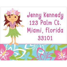 Hula Girl Personalized Address Labels (Sheet of 15)