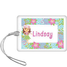 Hula Girl Personalized Bag Tag (each)