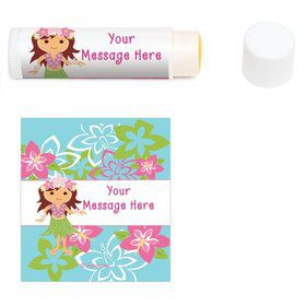 Hula Girl Personalized Lip Balm (12 Pack)