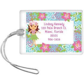 Hula Girl Personalized Luggage Tag (each)