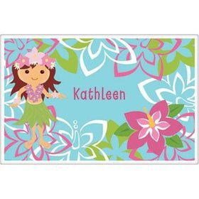 Hula Girl Personalized Placemat (each)