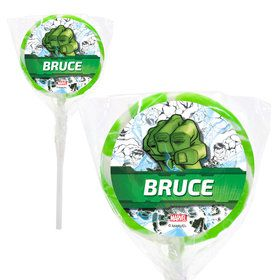 "Hulk Personalized 2"" Lollipops (20 Pack)"