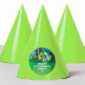 Hulk Personalized Party Hats (8 Count)