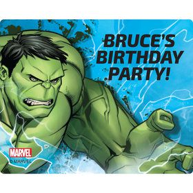 Hulk Personalized Rectangular Stickers (Sheet of 15)