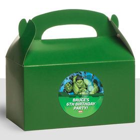 Hulk Personalized Treat Favor Boxes (12 Count)