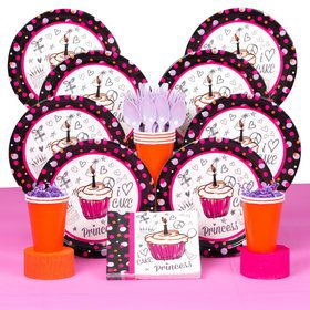 I Love Cake Deluxe Birthday Party Tableware Kit (Serves 8)