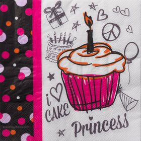 I Love Cake Luncheon Napkins (16 Count)