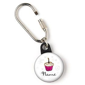 "I love Cake Personalized 1"" Carabiner (Each)"