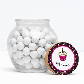 "I love Cake Personalized 3"" Glass Sphere Jars (Set of 12)"