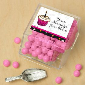 I love Cake Personalized Candy Bin with Candy Scoop (10 Count)