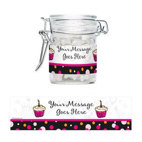 I love Cake Personalized Glass Apothecary Jars (10 Count)