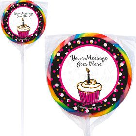 I love Cake Personalized Lollipops (12 Pack)