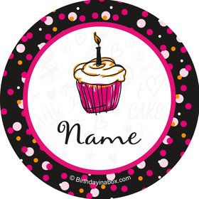 I love Cake Personalized Mini Stickers (Sheet of 20)