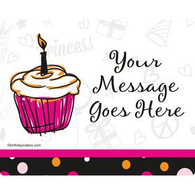 I love Cake Personalized Rectangular Stickers (Sheet of 15)