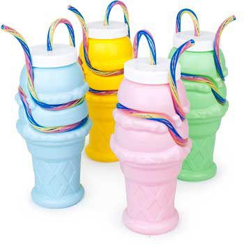 Ice Cream Cone Sipper And Milkshake Cup (Each) BB019062