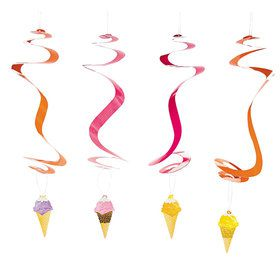 Ice Cream Hanging Swirls (12 Pieces)