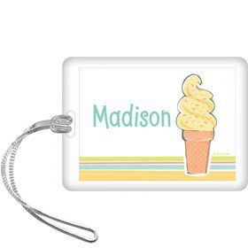 Ice Cream Party Personalized Bag Tag (each)