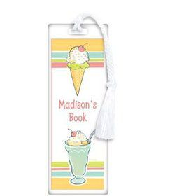 Ice Cream Party Personalized Bookmark (each)