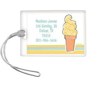 Ice Cream Party Personalized Luggage Tag (each)