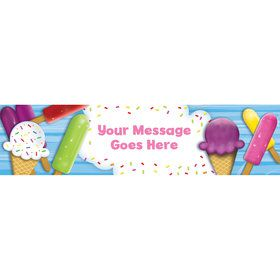 Ice Cream Personalized Banner (Each)