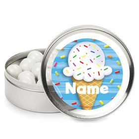 Ice Cream Personalized Mint Tins (12 Pack)