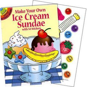Ice Cream Sticker Book (each)